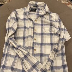 Abercrombie button down plaid shirt XS